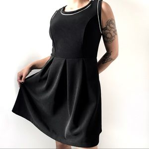 🎀 Monteau Women's Black Flare Dress with Bows 🎀